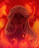 Daenerys, The Unburnt by zzzKEO