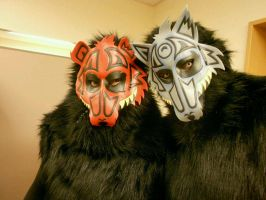 'Dreamcatcher' masks - Bear and Wolf by Masktastic