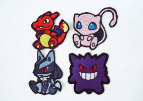 Pokemon Sew On Machine Embroidered Patches by Juliefoo