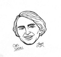 Carl Sagan sketch by bratchny