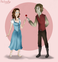 Day 2- Rumple and Belle by TheCarmiBug