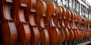 Violins All in a Row by BeckaMarr