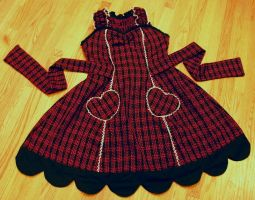 Red and black tartan front by The-Cute-Storm