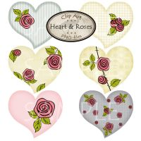 Clipart - Heart and Roses by karavajka