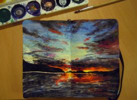 Moleskine - Sunset by Arashell