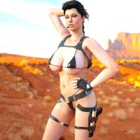 Lara Croft in New Mexico by 3DXArt
