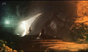 Concept art Danger Cave by Ilya Tyljakov by RaZuMinc