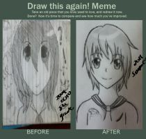 Redraw this again Meme by OtakuFish95
