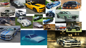 Collage Of Cool Vehicles by Harejules