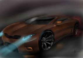 Even better night scene( Muscle car concept) by keegancheok