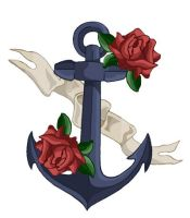 Sailor Anchor Tattoo Design by riotgirl24