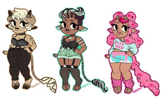 Ice Cream Cow Adopts: First Batch: CLOSED by oreorc