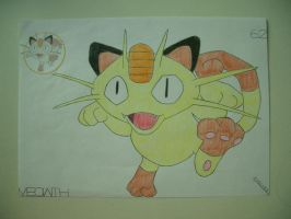 Meowth by charlenequek