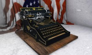 Vintage Writing Machine by RomanianGuy
