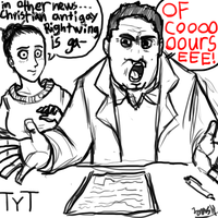 Cenk Uygur and Ana Kasparian from The Young Turks by maxviolence
