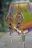 Noble Lady's Wine Earrings by KouranKiyo