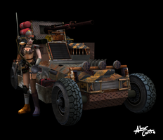 Post Apocalyptic Recon Buggy by SniperWolf87