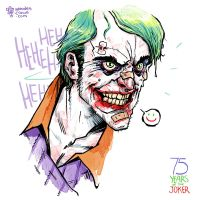 75 years of the Joker by TheWoodenKing