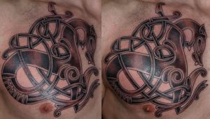 Urnes Dragon by DarkSunTattoo