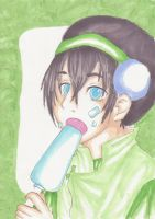 Toph and an Ice-cream by BirdChild