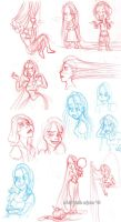 tangled sketchdump by evy-san