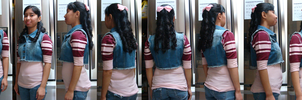My long curly hair with side bangs on May 13, 2014 by Magic-Kristina-KW