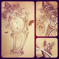 Clock Tattoo by JordanMendenhall
