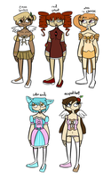 Set 5: Magical Girls by spacecaptainadopts