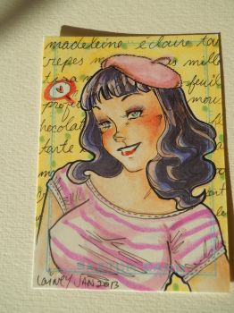 Bettie Page ACEO by lainey