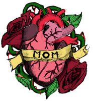Heart and Rose tattoo design by Dethb4dishonor