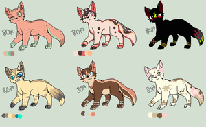 Head Bob Pt Adoptables :D *ALL SOLD* by KittenthePsycho