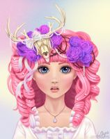 Jackalope Princess by LaurenMagpie