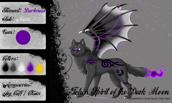 (Closed) Token Spirit #7 Dark Moon by ReekaRose