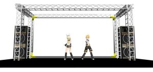 Mmd  Live Stage +DL by frede15