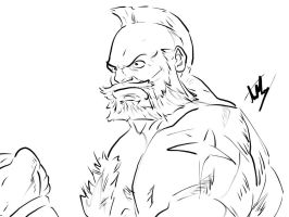 Zangief from Street Fighter by arthurfernandes
