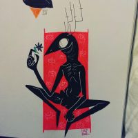Wendigo has a thing for flowers by pen-not-pencil