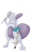 mewtwo and aitwo by Vita-Tani