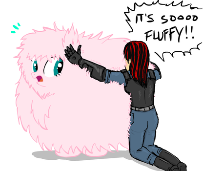 It's so fluffy!!! by glue123