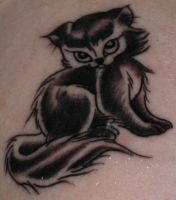Kitty tattoo by mreid13