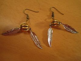 Snitch Earrings by WhisperingWindxx