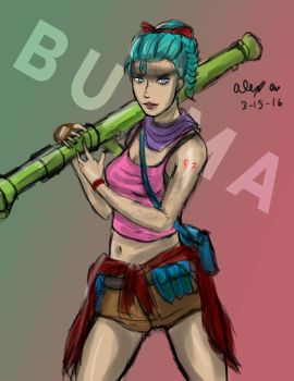 3-15-2016- Bazooka Bulma by Goldencard