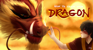 How To Train Your Dragon: Firelord Zuko style by xldlcrz
