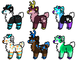 Deer adopts (1/6 open) by Sweetnfluffy-adopts