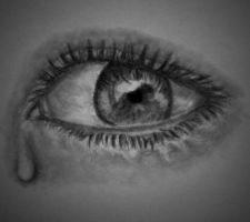 Eye, a little tear. by Blablablashalala