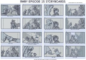 RWBY Episode 15 Storyboards Page 1 by ShinseiKai