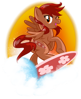 Sassy Surfing Blossom by equinepalette