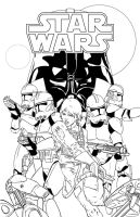 Star Wars Idylls of the Force Promo Art-WIP by Ihlecreations