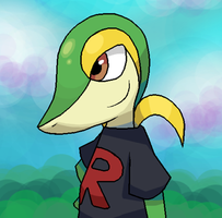 Wayne the Snivy v2 by FutureDiarist