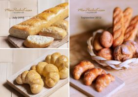 Breads (Before and After) by monpuchikissa