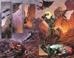 Double page spread by johnnymorbius